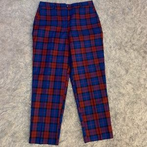 ASOS Blue and Red Check Pants